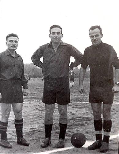 Мирко Шпановић – Шпанац  са помоћницима Драгославом Мацићем и Душаном Матовићем